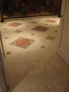Faux painted marble floor NYC mjp studios