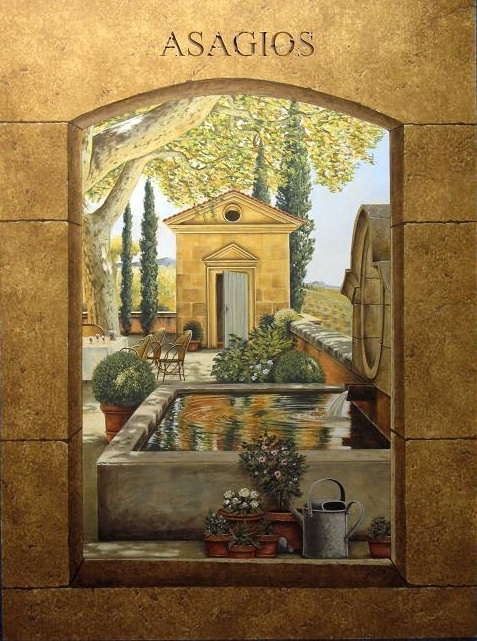 Italian tuscan hand painted mural ct connecticut ny