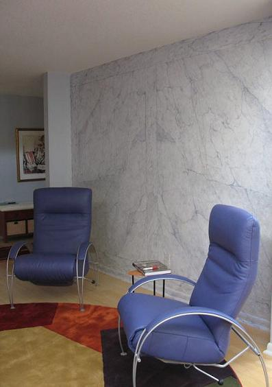 Faux Painted Book match Carrara Marble, CT Residence
