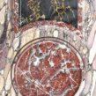faux marble violet breche - rouge royal - portor marble & trompe l