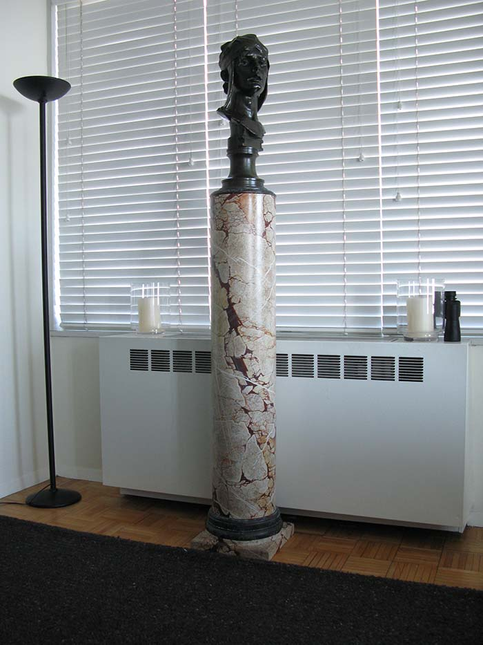 Faux Painted Sarracolin Marble Pedestal