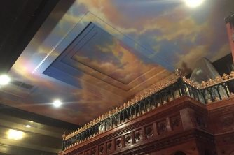 Painted Sky Ceiling New Haven CT. Marc Potocsky
