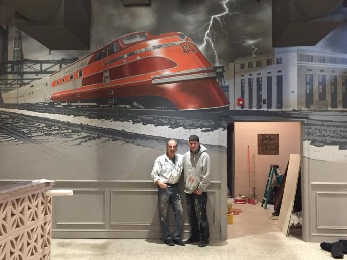 Nolo Restaurant in New Haven CT Mural Artist Marc Potocsky MJP Studios