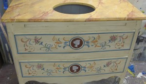 Faux Painted Furniture ct ny decorative painted commode mjp studios ny