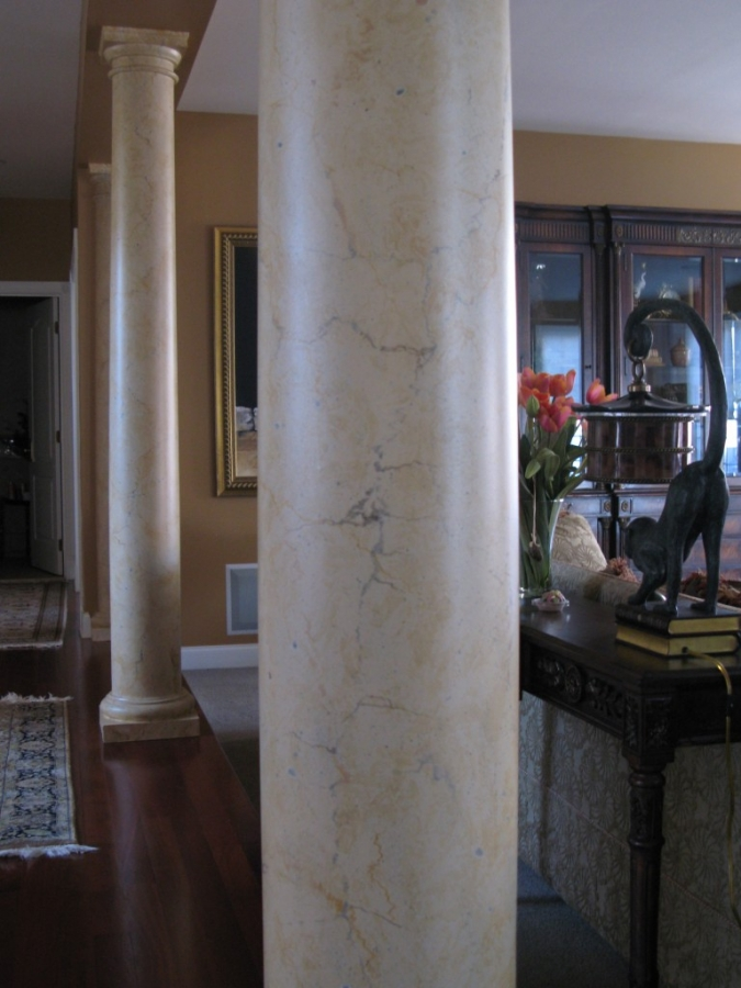 Beautiful Faux Painted Columns Part - 10: ... Faux Marble Column Limestone CT NY Faux Painted ...