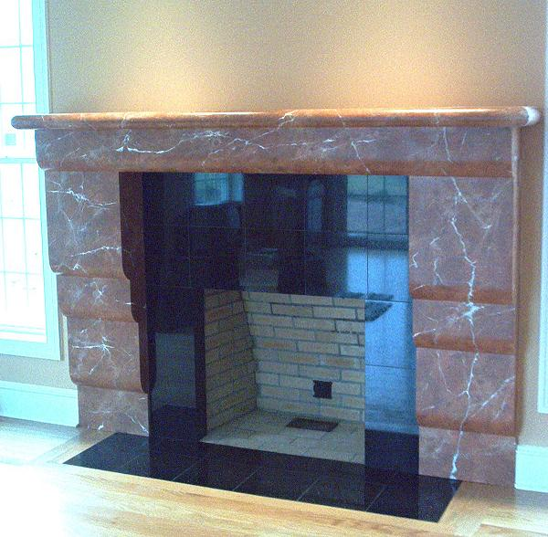 Faux painted fireplaces mantels mjp studios for Faux marble fireplace mantels