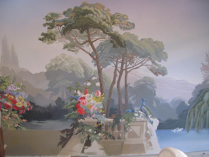 mural painting ct zuber wallpaper reproduction part 1