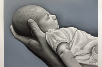 Connecticut Portrait artist Marc Potocsky - Baby Addison