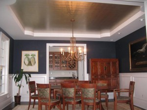 Gold and Silver leaf on ceilings,walls and furniture in CT / NY