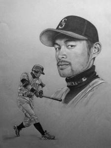 Ichiro Suzuki portrait CT Artist Marc Potocsky MJP Studios