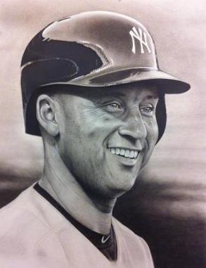 Ct Portrait artist Marc Potocsky - Jeter New York Yankees