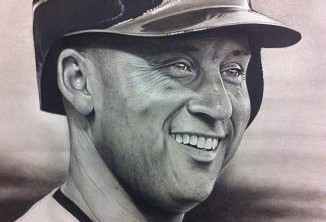 Ct Portrait artist Marc Potocsky - Jeter New York Yankees
