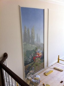 Murals CT – Zuber Wallpaper Mural 1st panel installed mjp studios ny