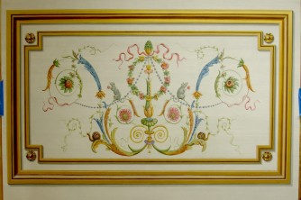 Hand painted french ornament panel decorative painting NY
