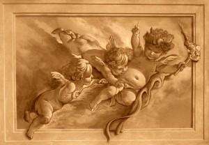 Murals CT by Marc Potocsky - MJP Studios grisaille cherubs