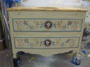 decorative painting ornament  c s vanity