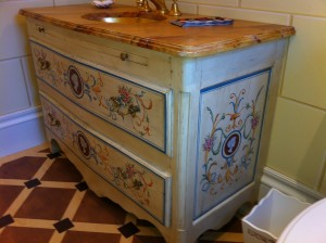 Decorative painted furniture, CT - 18th century Italian Commode by Marc Potocsky - MJP Studios CT.