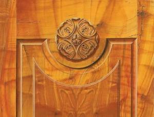 Faux cherry bookmatch Trompe-loeil-molding-ornament MJP CT NY - Copy (2)