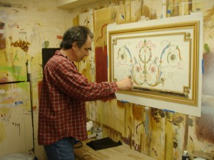 Painting Trompe loeil molding MJP Studios CT NY