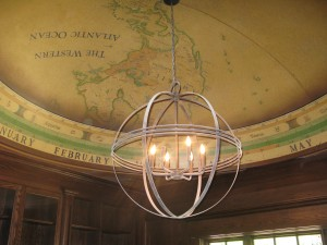 Painted mural dome map Stamford CT. MJP Studios  Julie White Interiors