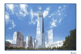 freedom tower one world trade fine art painting nyc by CT Artist Marc Potocsky mjp studios 1