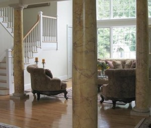 faux painted marble columns ny