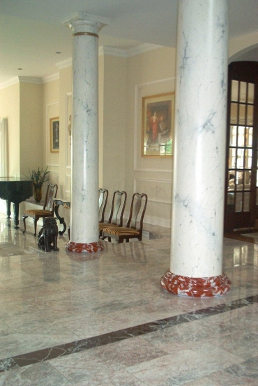 faux painted marble columns ny 3