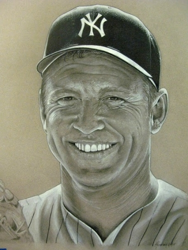 New York Yankees Art CT- Mantle MJP
