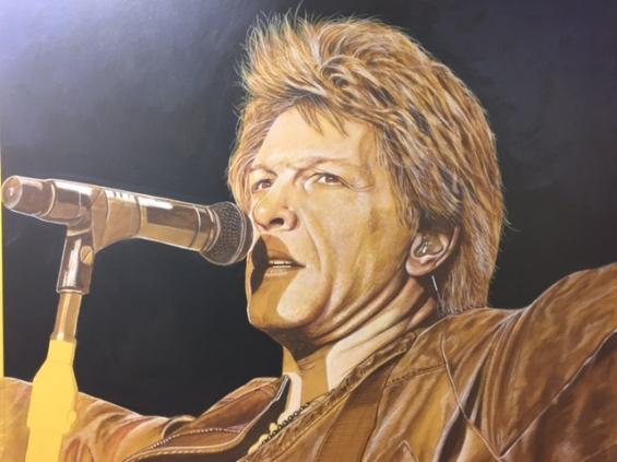 Bon Jovi Mural Portrait MJP Studios CT