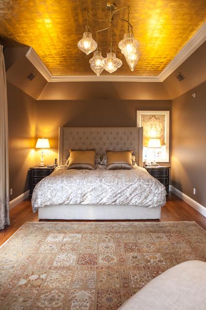24 carrot gilded bedroom ceiling Designer Debra Kling MJP Studios