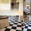 faux-painted-floors-ct-b-w-harliquin-pattern-mjp-studios CT