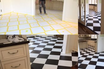 faux-painted-floors-ct-b-w-harliquin-pattern-mjp-studios CT