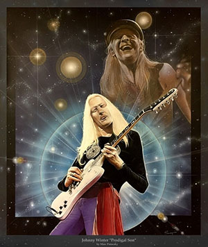 Johnny Winter Art Prodigal Son by (Moe) Marc Potocsky