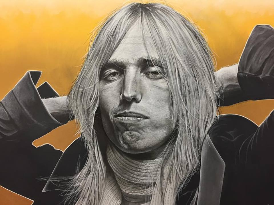 "Tom Petty ""Southern Accent"" by Ct artist Marc Potocsky Rock Music Legend Art"