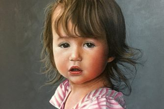 Childs painted Portrait CT by CT artist Marc Potocsky Addison portrait