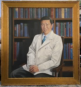 CT Portrait artist - Dr. Tsai retired chair Yale by Marc Potocsky