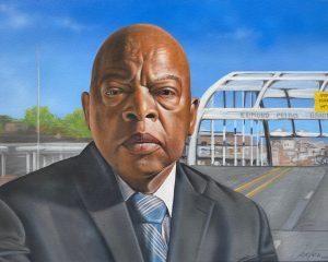 John Lewis Ct portrait artist